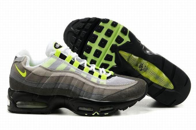 86d405d763128 Hombre Nike Air Max 95 Zapatos Blanco Gris Negro Verde