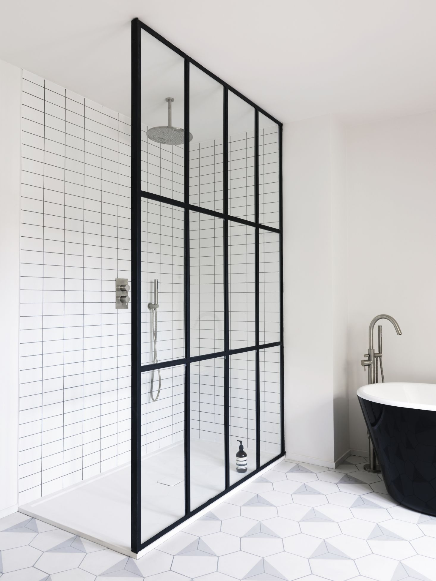 Bathroom Of The Week Steel Frame Shower Doors In A Fanciful London