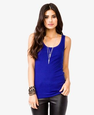Ribbed Scoop Neck Tank $4.80 (Forever 21)
