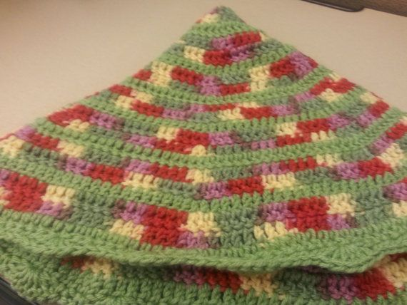 Summertime Crochet Lap Blanket, crochet afghan, circle blanket ...