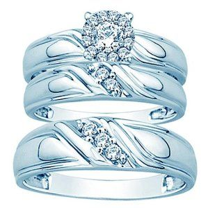 his and her wedding ring sets Amazoncom his and her trio wedding