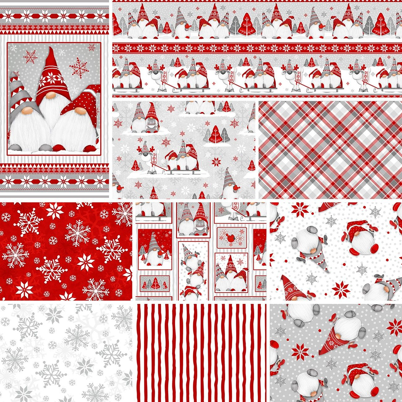 Henry Glass Assortment Winter Whimsy 10pcs x 12yds By