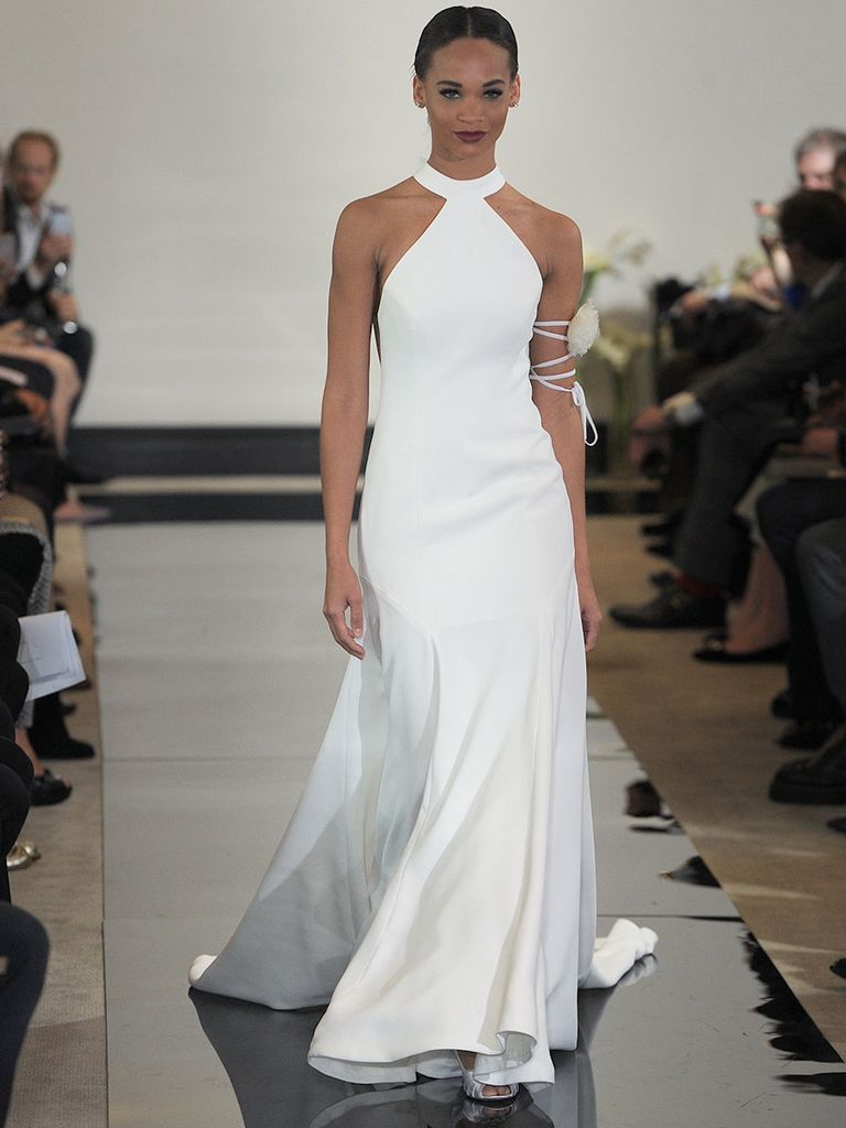 Wedding dress with bow on back  Justin Alexander Spring  Timeless Silhouettes Get the Luxe