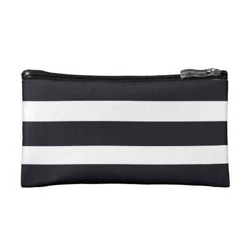 Cosmetic Bags Cosmetic Bag Black & White Stripes. $27.95