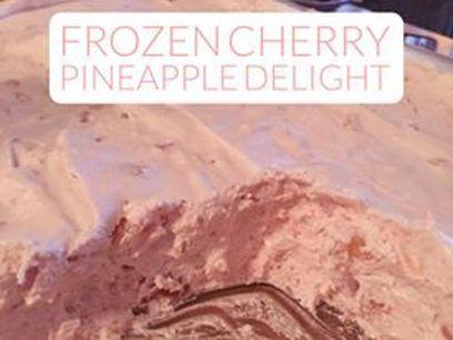 Recipe: Frozen Cherry Pineapple Delight  http://www.twohensandtheirchicks.com/recipe-frozen-cherry-pineapple-delight.html