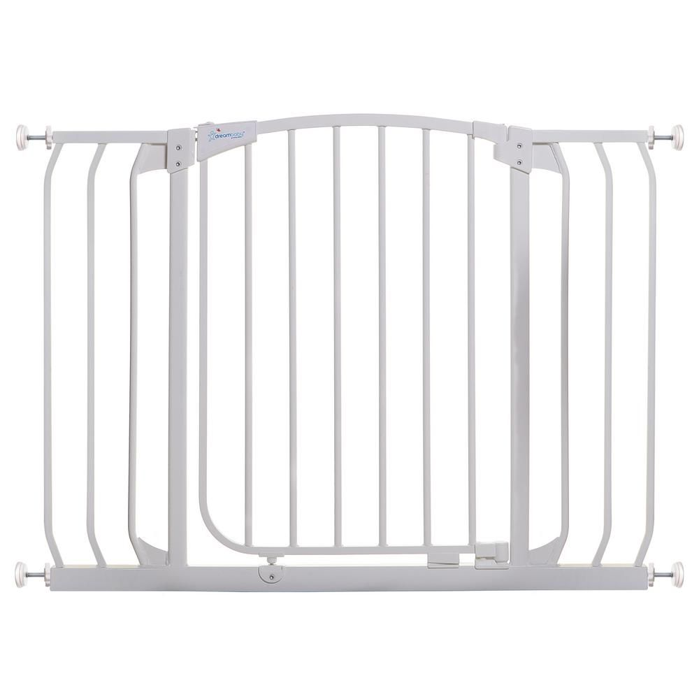 Dreambaby Chelsea 29 5 In H Standard Height And Extra Wide Auto Close Security Gate In White F170w Large Dog Crate Baby Gates Wireless Dog Fence