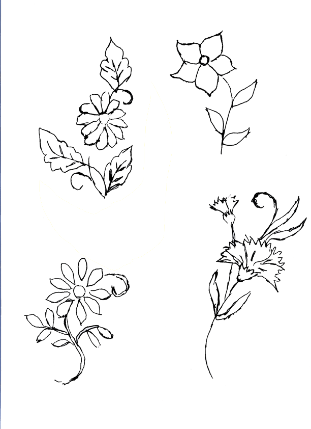 Dibujos flores para bordar - Imagui | bordados | Pinterest ...