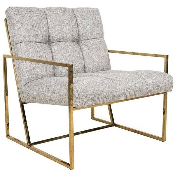 Incredible Brass Metal Accent Chair In Textured Neutral Linen 1 495 Andrewgaddart Wooden Chair Designs For Living Room Andrewgaddartcom