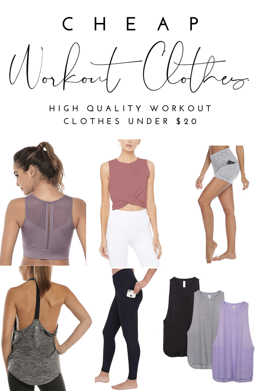 For someone who works out everyday, comfy and CHEAP workout clothes is a must! Here are my favorite...