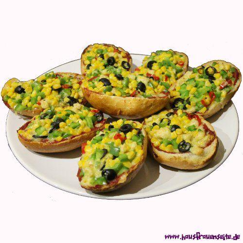 vegetarische pizzabrötchen | rezept | pizza und rezepte - Schnelle Vegetarische Küche