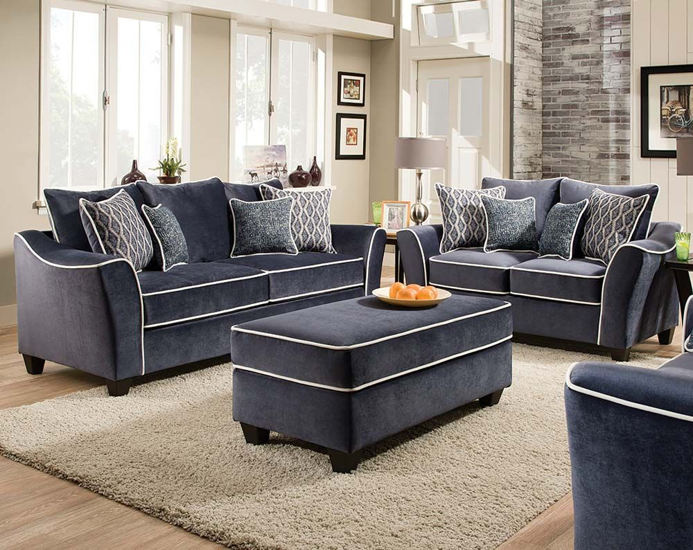 The Stately Eclipse Sofa and Loveseat is a beautiful statement set ...