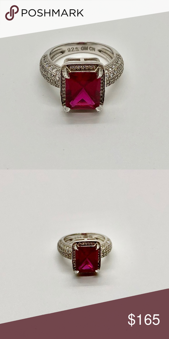 925 Cn Gm : Beautiful, Large, Small, Sapphires, Womens, Jewelry, Rings,, Boutique, Jewelry,, Sterling, Silver, Bands