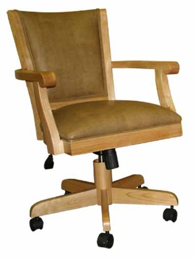 Swivel Kitchen Chairs With Casters Caster Chair With Arms Solid