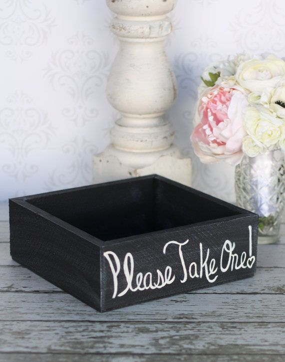 Rustic Shabby Chic Wedding Favors Box Decor by braggingbags, $29.99