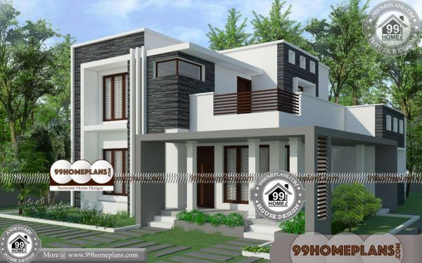 2 Story House Plans For Narrow Lots 80 Low Cost Cottage Designs Free Best Modern House Design House Arch Design House Architecture Design