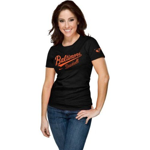 size 40 6610e 4dca0 Amazon.com: Baltimore Orioles Women's Nike Black Away ...