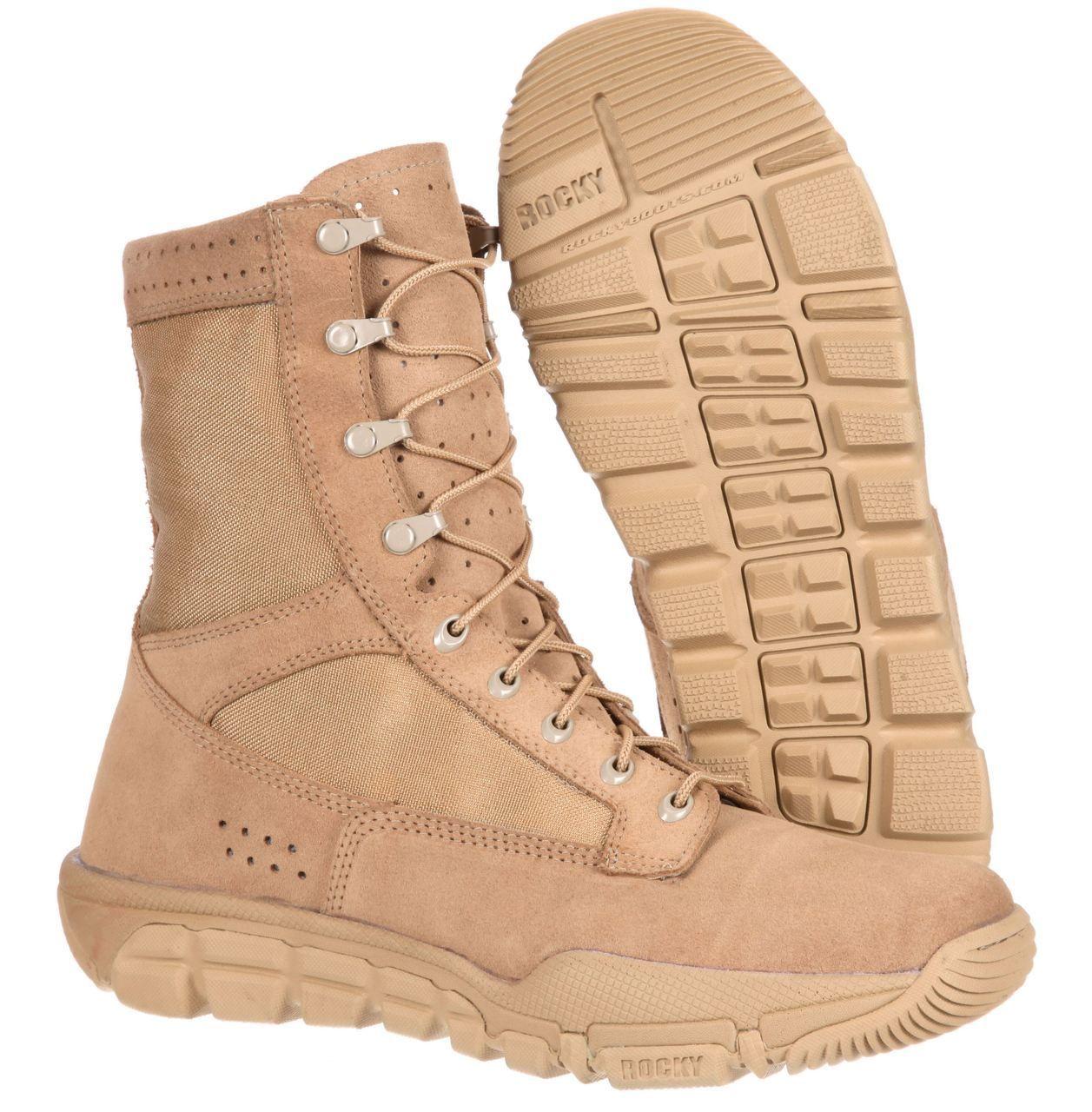 Rocky C6 Lightweight RLW AR670-1 Compliant Army Boots (Desert Tan ...