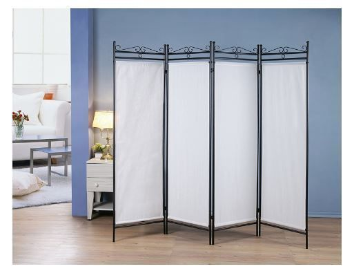 Screen Dividers for Rooms Folding Floor 4 Panel Privacy Screen Home Office Fabri #NotApplicable