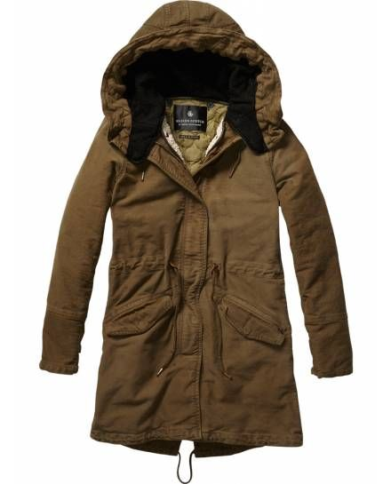 Iconic Peached Cotton Parka   Womens Clothing   Jackets at Maison Scotch -  Scotch   Soda Online Fashion   Apparel Shop bd7b01e2d4