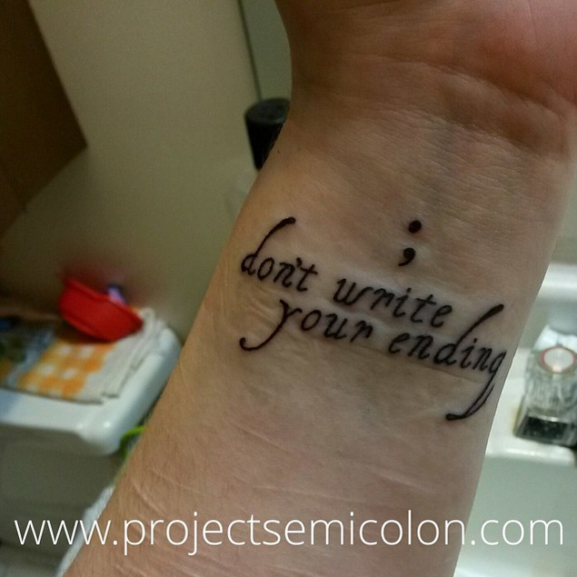 Semicolon Depression Self Harm And Suicide Awareness: Don't Write Your Ending Tattoo - Google Search