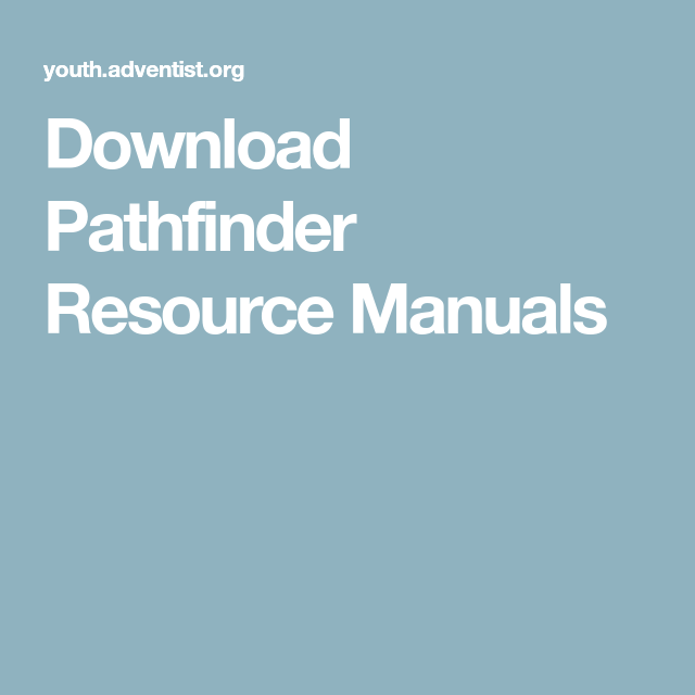 Download Pathfinder Resource Manuals Pathfinder Manual Resources