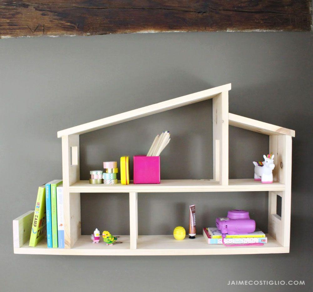 DIY Wooden House Shelf Storage & Organization Ideas in