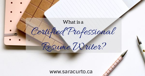 Being a Certified Professional Resume Writer means that I have been