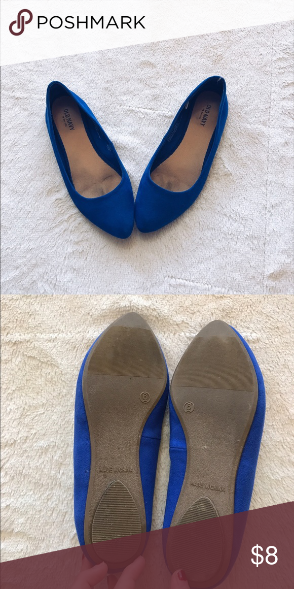 Blue pointed toe flats Blue pointed toe flats. Only worn a few times! In good condition. Old Navy Shoes Flats & Loafers