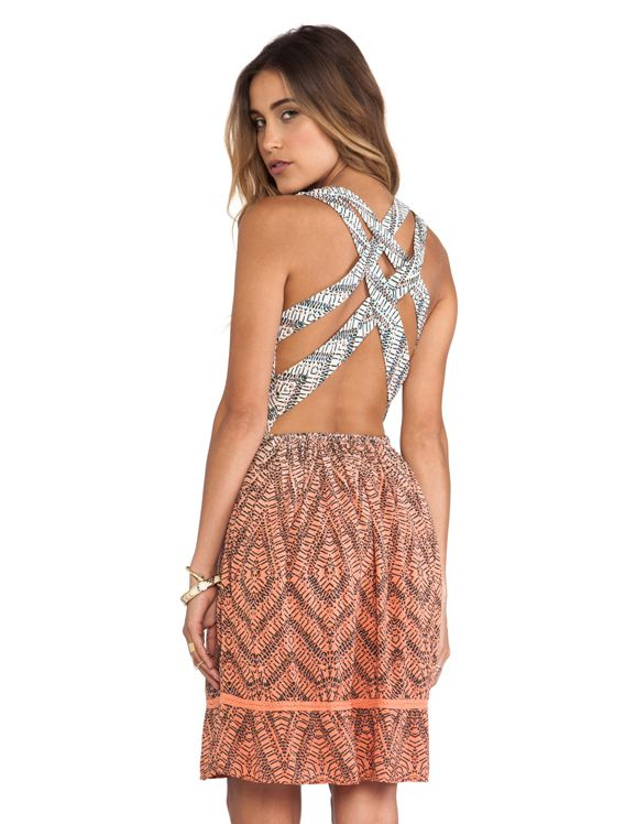 REVOLVE. Love the back. Too bad the rest of the dress looks cheap.