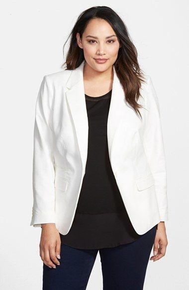 b334a0bda70 Want! Plus Size One-Button Blazer