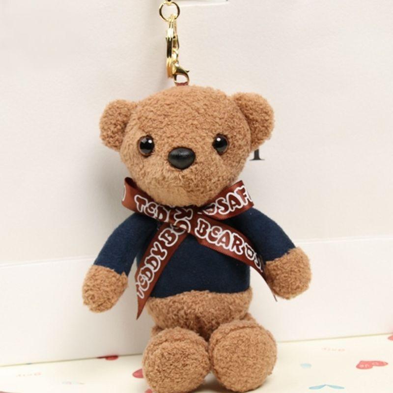 Mini plush bear stuffed cartoon animal cute key chain pendant soft toy H/'UK