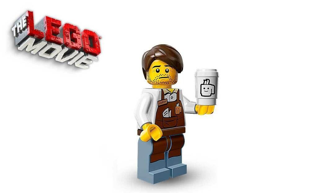 Loose 71004 LEGO The Movie Larry the Barista Minifigure
