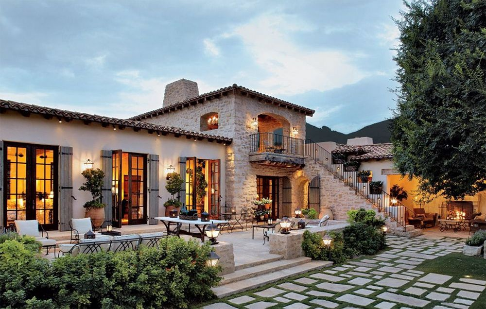 Mediterranean house designs the stones the staircase Mediterranian homes