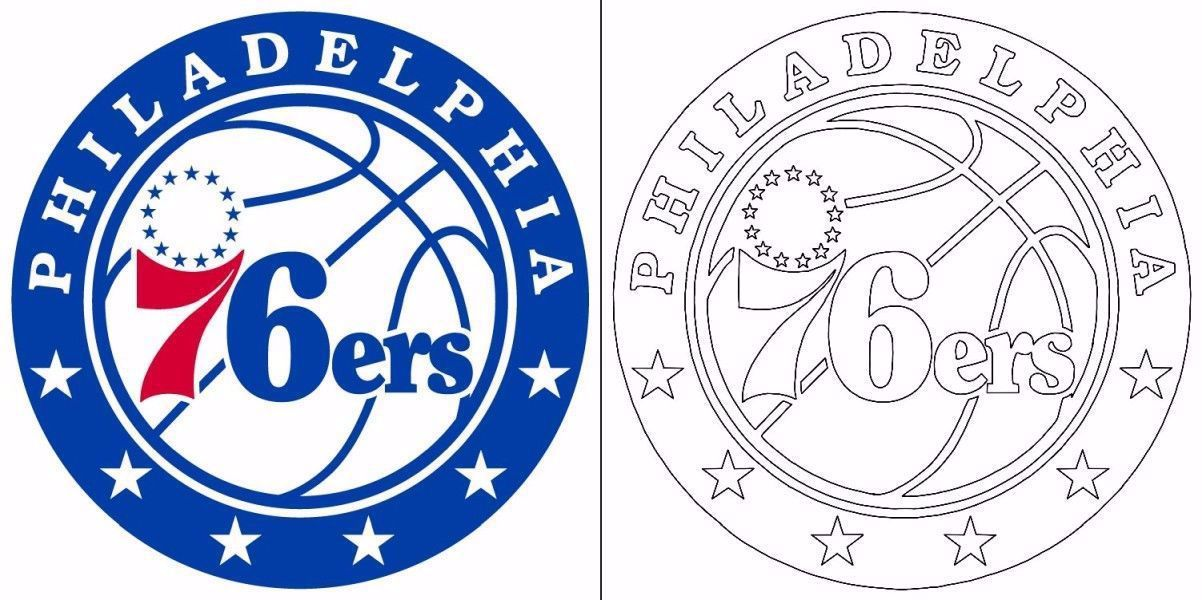 76ers Logo Coloring Page In 2020 Coloring Pages Free Coloring