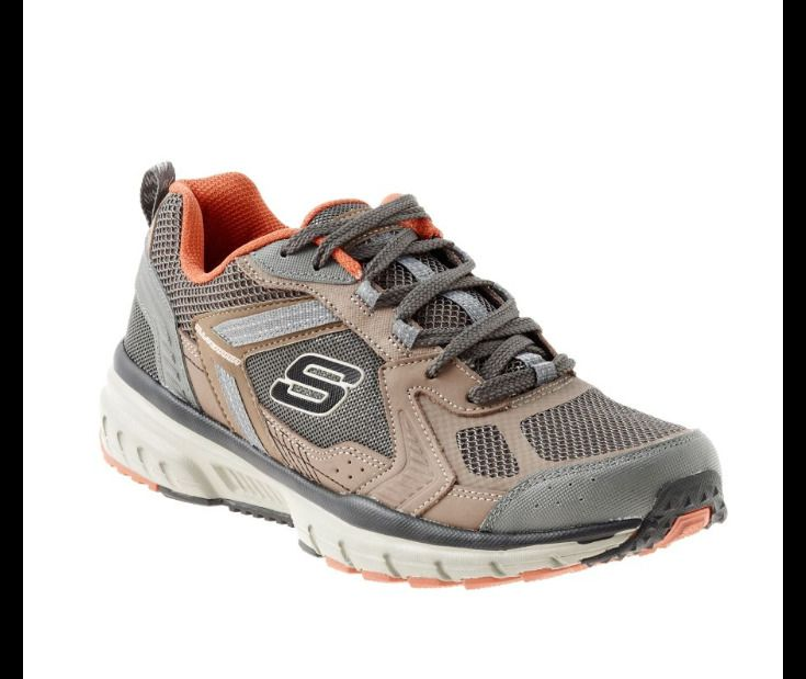 Fall/Winter Skechers Geo Trek Pro Force Men Round Toe Canvas Sneakers Mens Brown Skechers Mens Sneakers