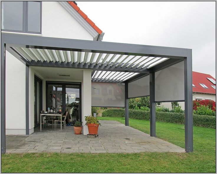 Terrassenüberdachung Sonnenschutz Innen innen pavilion