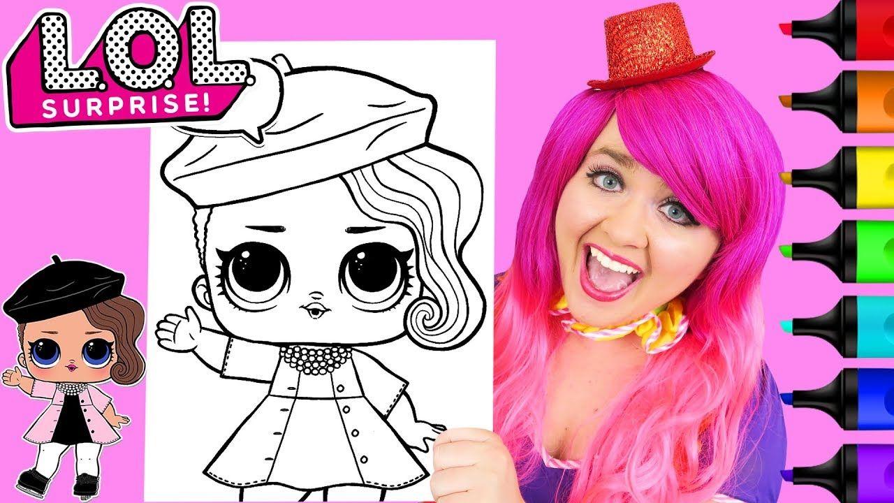 Coloring Lol Surprise Dolls Posh Coloring Page Prismacolor Paint Markers Disney Princess Coloring Pages Birthday Coloring Pages Disney Coloring Pages