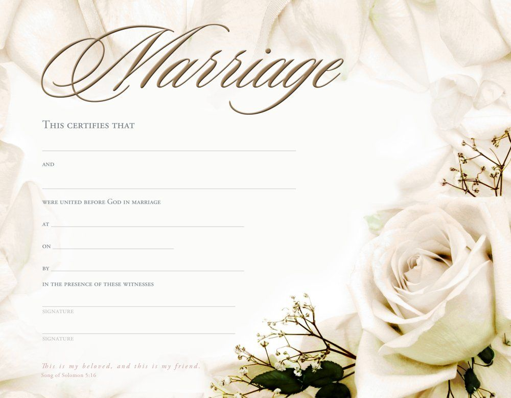 Marriage Certificate Template - formats, Examples in Word Excel - certificate template blank