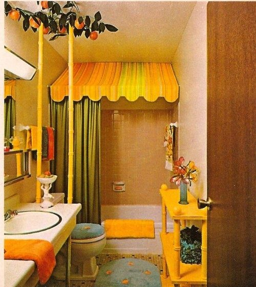 picture of cute yellow teen bathroom ideas for small space with canopy bathub and green shower - Yellow Canopy Interior