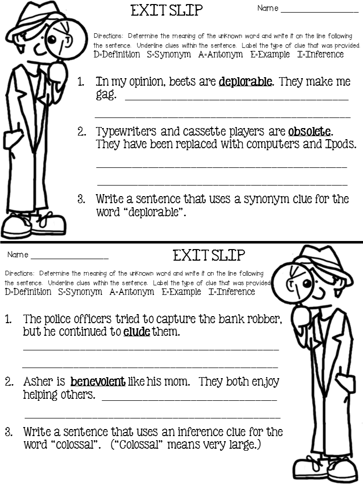 Context Clues Anchor Chart Freebie Included 5th Grade Ela