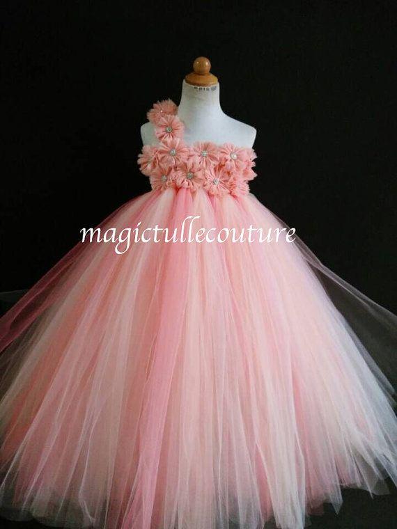 Rosa Coral Y Marfil Diamante De Imitación Por