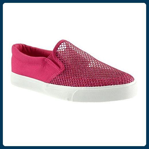 Angkorly Damen Schuhe Sneaker - Slip-on - Fischnetz Schuh Flache Ferse 2.5 cm - Schwarz PQ-2 T 39 zKoYw7e