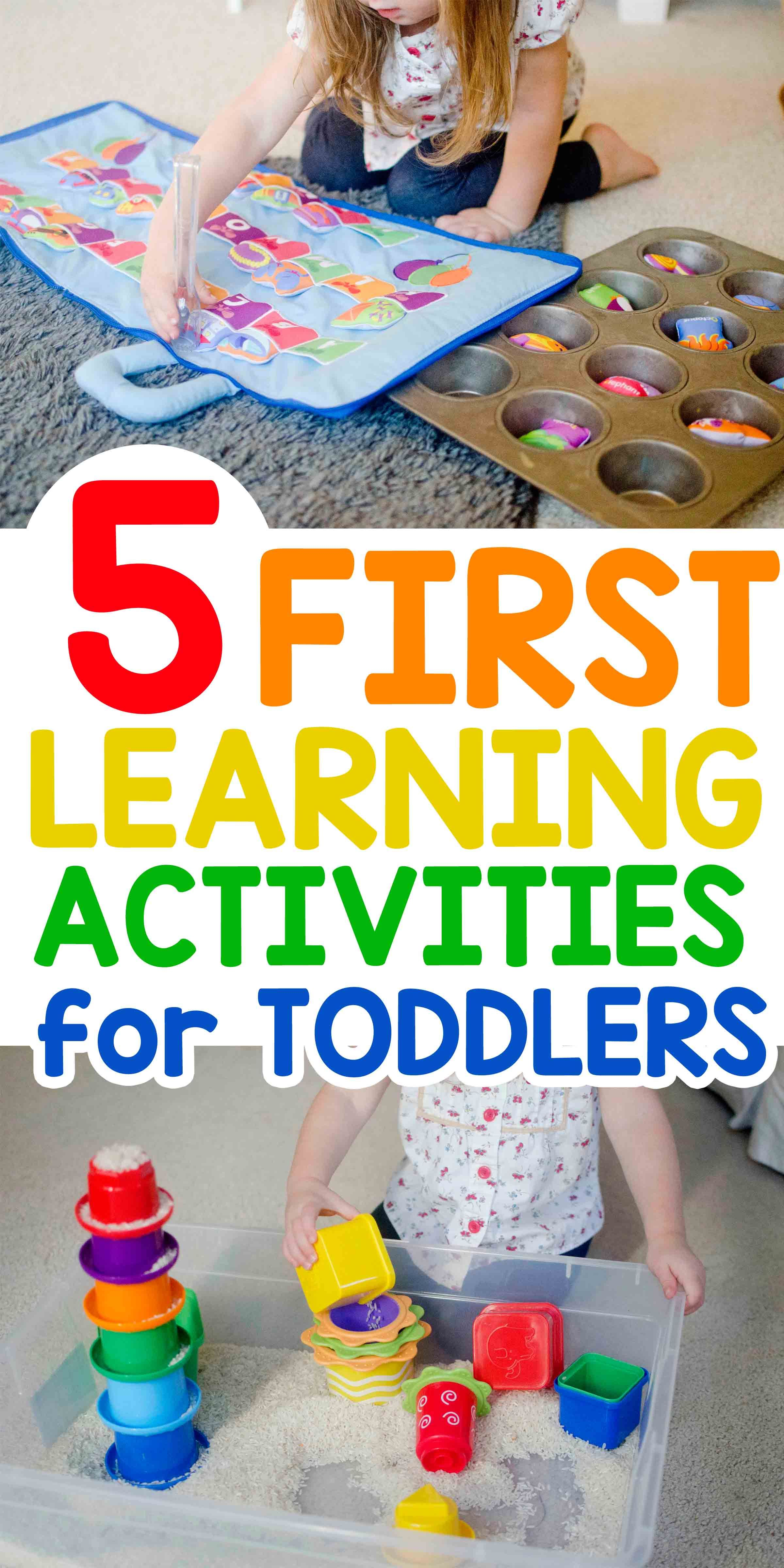 5 First Learning Activities For Toddlers
