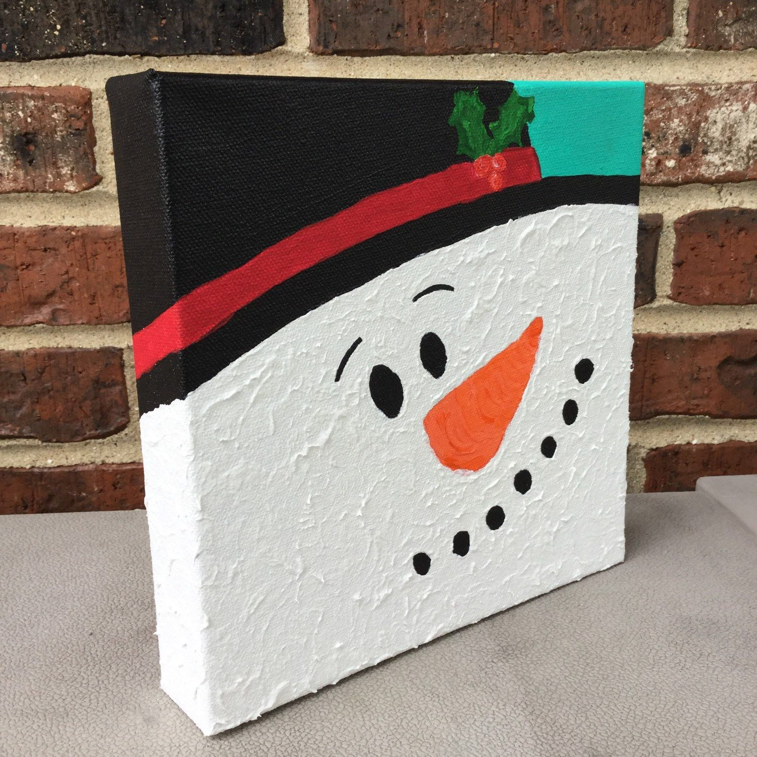 Snowman Painting Snowman Decoration Christmas Painting Winter