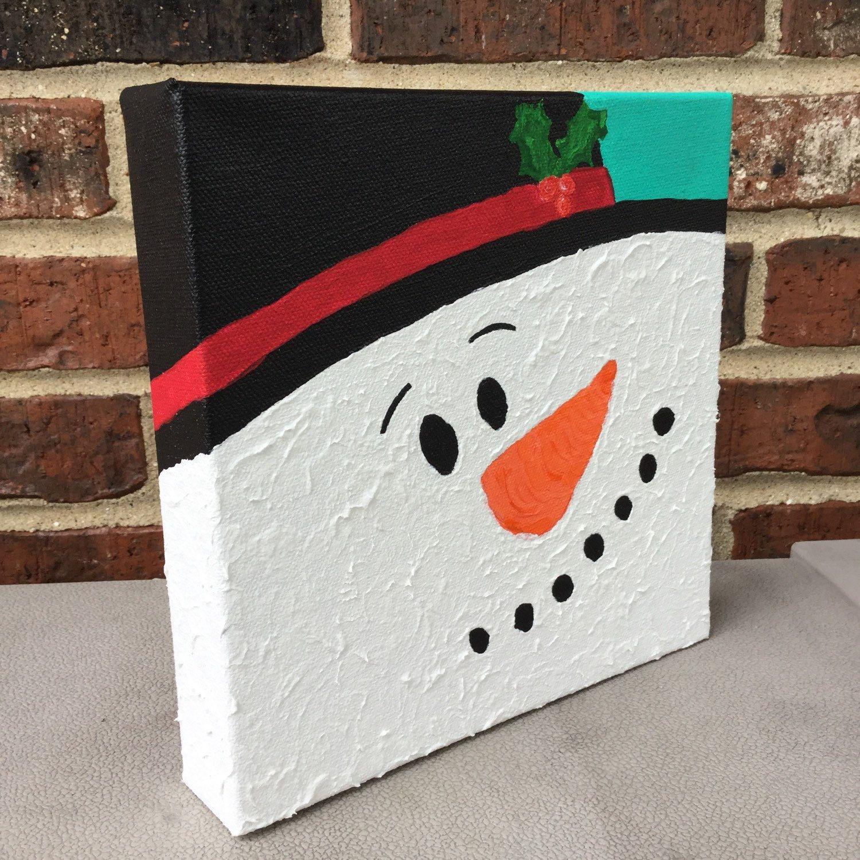 Snowman painting snowman decoration christmas painting for Simple christmas pictures to paint