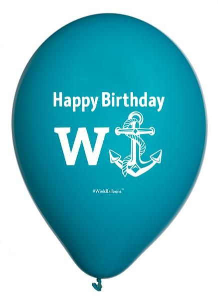 Happy Birthday WAnchor By WinkBalloons Funny Helium Abusive Balloons Delivered In