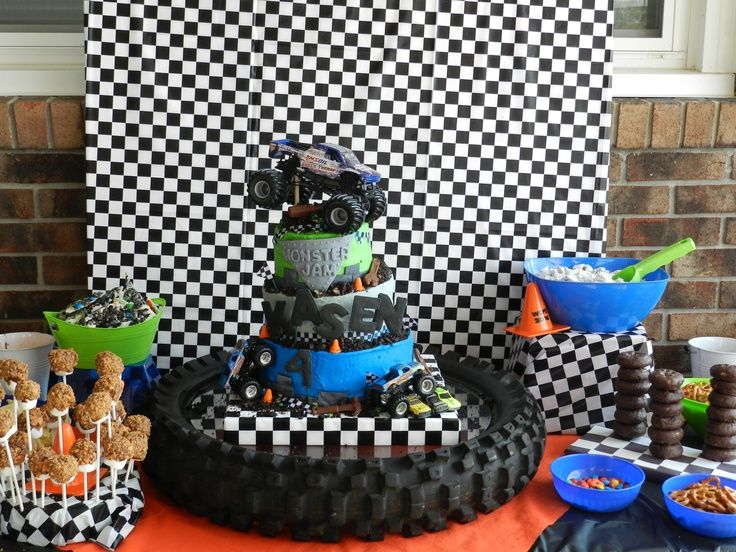 Image Result For Monster Truck Party Supplies Monster Truck Party