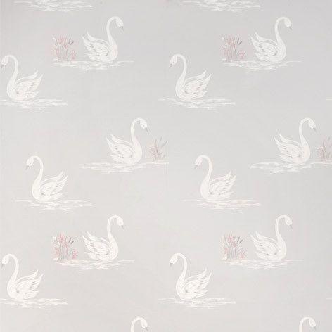 Laura Ashley Swans Silver Wallpaper Lauraashleyhome