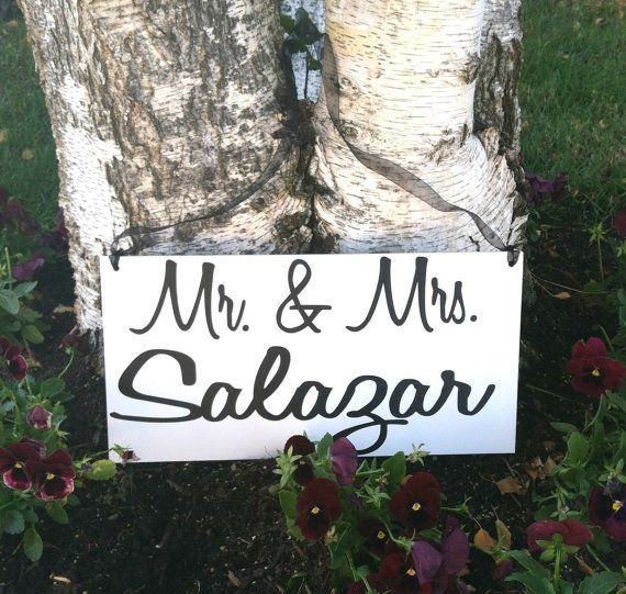 Hey, I found this really awesome Etsy listing at https://www.etsy.com/listing/165994620/wedding-signs-mr-and-mrs-sign-wedding