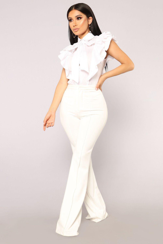 Ruff Feelings Top White Fancy outfits, Fashion nova
